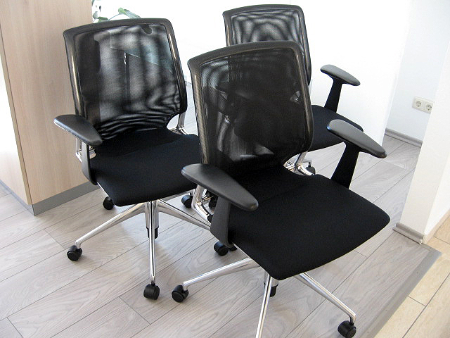 vitra meda chair schwarz 3er set konferenzst hle auf. Black Bedroom Furniture Sets. Home Design Ideas
